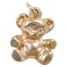 Vintage 14k Gold Tiny Bear Charm