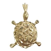 Vintage 14k Gold Turtle Charm or Pendant