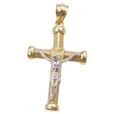 10k Gold Crucifix Cross Charm / Pendant