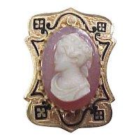 Victorian 14k Gold Cameo Slide ~ Add A Slide Bracelet