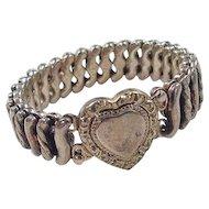 Victorian Heart Expansion Bracelet ~ 12k Gold Filled