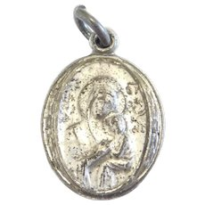 Sterling Silver Virgin Mary and Jesus Charm