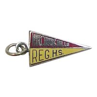 Vintage Watchung Hills Regional High School Charm with Enamel, New Jersey