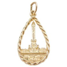 14k Gold Water Tower Chicago Charm ~ Souvenir