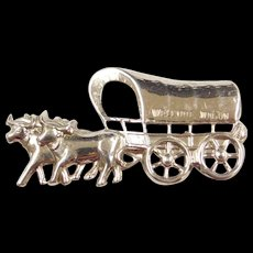 Sterling Silver Welcome Wagon ~ Covered Ox-Wagon