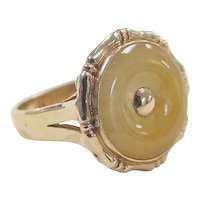 Vintage 14k Gold Yellow Agate Ring