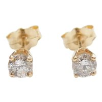 Diamond .42 ctw Stud Earrings 14k Gold