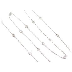 Diamond By The Inch 1.00 ctw Necklace 14k White Gold