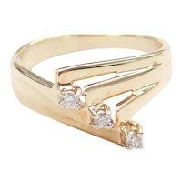 Modernist Diamond .075 ctw Ring 10k Gold