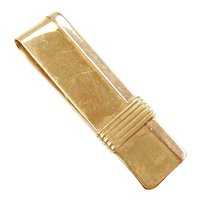 Money Clip 18k Yellow and Rose Gold Italian Carniani