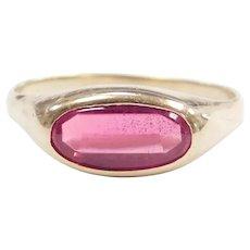 Vintage Created Ruby 1.51 Carat Ring 10k Gold
