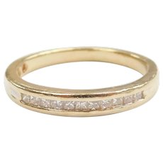 Diamond .23 ctw Wedding Band Ring 14k Gold