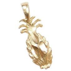 14k Gold Pineapple Charm