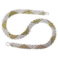 Vintage Sterling Silver and Gold Vermeil Chain / Necklace