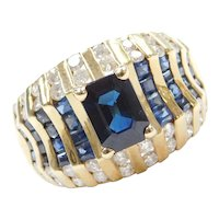 1.38 ctw Sapphire and Diamond Ring 14k Gold