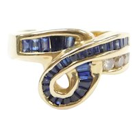 1.40 ctw Sapphire and Diamond Ring 14k Gold