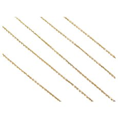 "17 1/4"" 14k Gold Cable Link Chain ~ 1.2 Grams"