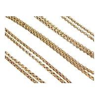 "Edwardian 40"" Long 18k Gold Watch Fob / Necklace"