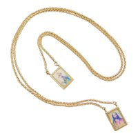 """26"""" 18k Gold Religious Scapular Necklace ~ Christian"""