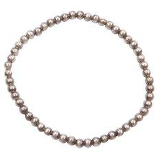 "5 1/2""+ Sterling Silver Stretch Bead Bracelet"