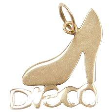 14k Gold Disco High Heel Shoe Charm