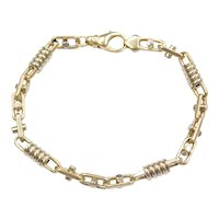"8 3/4"" 14k Gold Two-Tone Men's Link Bracelet"