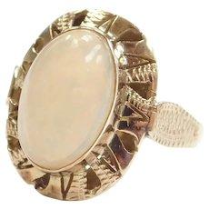 Edwardian 14k Gold Opal Ring