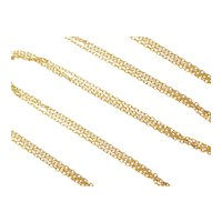 "16"" 14k Gold Triple Strand Cable Link Necklace"