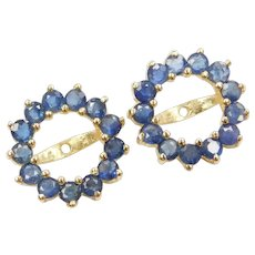 1.30 ctw Natural Sapphire Earring Jackets
