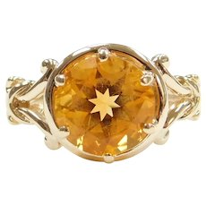 14k Gold 3.30 Carat Citrine Ring