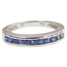 .66 ctw Sapphire Ring 18k White Gold