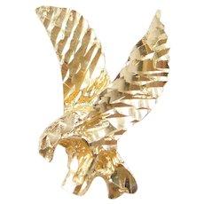 14k Gold Eagle Pendant / Charm