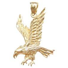 14k Gold Big Eagle Pendant / Charm