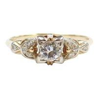 .36 ctw Diamond Art Deco Engagement Ring 14k & 18k Gold