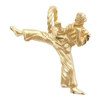 14k Gold Karate Charm ~ Taekwondo
