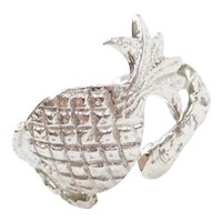 833 Silver Pineapple Spoon Ring
