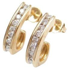 .32 ctw Diamond Hoop Earrings 14k Gold
