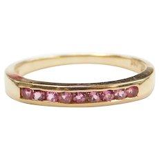 .18 ctw Pink Tourmaline Band Ring 14k Gold