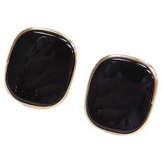 14k Gold Onyx Stud Earrings