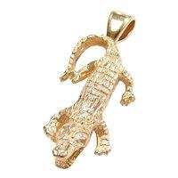 14k Gold Alligator / Crocodile Charm