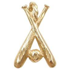 14k Gold Baseball Sports Charm / Pendant