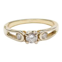 .30 ctw Diamond Engagement Ring 14k Gold