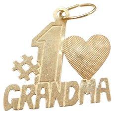 14k Gold #1 Grandma Charm