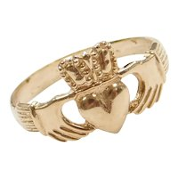 10k Gold Claddagh Ring ~ Love, Loyalty and Friendship