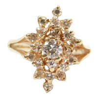 .72 ctw Diamond Ring 14k Gold