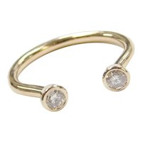 .25 ctw Diamond Open Horseshoe Ring 14k Gold