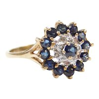 .96 ctw Sapphire and Diamond Ring 14k Gold