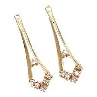 .18 ctw Diamond Earring Jackets 14k Gold