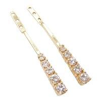 .73 ctw Diamond Earring Jackets 14k Gold