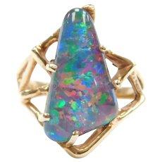 14k Gold Opal Triplet Ring